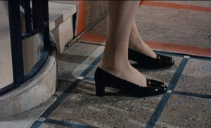 Close up of Catherine Devenue wearing the pilgrim in Belle de Jour